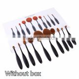 New Arrival10PC/Set Toothbrush Shaped Eyebrow Foundation Power Face Eyeliner Lip Oval Cream Puff Brushes Makeup Beauty Tools