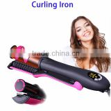 New 2 in 1 Function 360 Degree Automatic Ceramics Hair Curling Iron Wand Hair Straightener