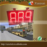 LED bus route sign 888 digits Red 7 segment semi-outdoor route 6'' display signage