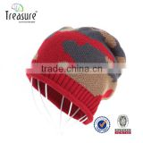 Hot sale beanie hat Warm winter Soft beanie hat Cheap Wholesale Custom Beanie hat With Leather Patch