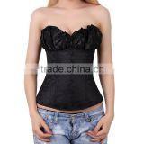 black corsets steel boned bustiers vintage waist training corsets wholesale rubber corsets