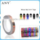 ANY Nail Art DIY Self Adhesive Copper Wave Nail Strip 2D Nail Sticker