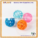 Plastic cat toy ball with bell inside, Plastic Cat Bell Ball Toys Double Color Ball Pet Toys With Small Bell