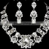 Fashion High Quality Luxury Bridal Necklace Earrings Tiara Wedding Jewelry Set