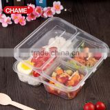 Best selling stackable 3 compartment plastic meal prep container