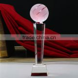 2016 crystal glass nba plastic basketball trophy wholesale