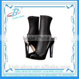 Sexy women black ankle boots genuine leather women boots for wholesale