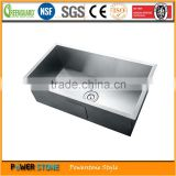 China best brand stainless steel 304 undermount single bowl portable restaurant kitchen sink