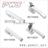 Upvc Window Handle Zinc/Aluminum alloy window handle Puwei PWS Inward Opening Window Handle with key/lock