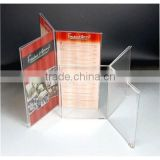 Curved clear promotional acrylic menu holder wholesale