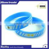 promotional gifts rubber silicon bracelet / custom silicon wrist band newest fashion silicone bracelet