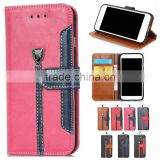 flip crazy horse PU leather phone case cover with card slot for Blu vivo studio air life pure xl 5.5 6.0 7.0 8