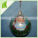 various sizes&custom sizes:70mm,80mm,100mm,/Hand panted clear glass round christmas ornaments
