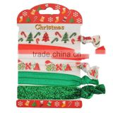 Santa alloy Fabric elastic Colorful hair band hair rope snowman Father christmas trees Headwear