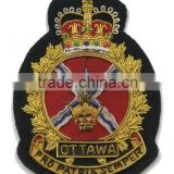 Hand Embroidered Military Blazer Badges with Bullion Wires