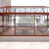 aluminium profile glass house /sun room /green house with different colors and surface treatment available