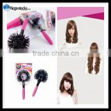 3D Spherical Comb Japan Lucky Bomb Curl Brush Full Round Hot Curling Styling Brush Tangle Escova De Cabelo