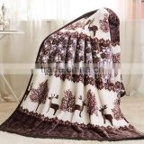 Coral Fleece blanket on the bed home adult Plaid Flower beautiful blanket warm winter sofa travel blanket purple portable
