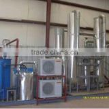 Low operation pressure liquid oxygen and nitrogen production plant