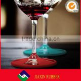 China wholesale round shape silicone drinking glasses holders colorful beverage coaster for bar
