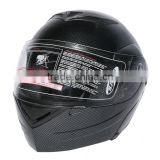Carbon Fiber Flip Up Modular Full Face Motorcycle Helmet Street Sport S M L DOT