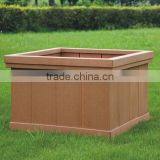 Cheap price water resistance garden furniture WPC wood plastic composite flower pot flower box