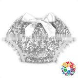 sliver sequin and cotton baby bloomers wholesale