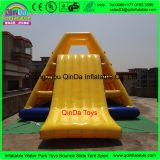 Water park sports game 7*5*4m climbing water slide ,inflatable sea slide for kids and adults