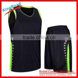 Customized free design basketball jersey black color for team/racing club