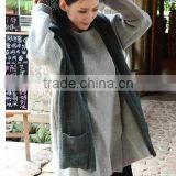 new design acrylic winter ladies knitted hooded scarf with pockets