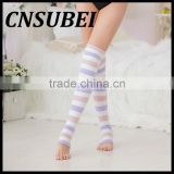 medical knee high open toe calf compression stocking