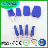 Silicone Spatula Brush Set 4 PCS Non-stick Heat Resistant Silicone Bakeware Essential Tool