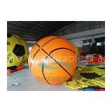 Ground Advertising Basketball Helium Balloons Fireproof Inflatable