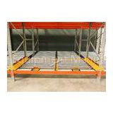 High Density Storage Racks Pallet Flow Rack System For Logistics Distribution Centers
