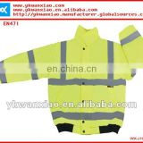 fluorescent jacket with high visibility,fluorescent jacket with zipper,fluorescent yellow jacket with snap button