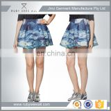 sexy latest hot baby girl fashion short micro mini skirt softtextile printed new design hot sale OEM 2016