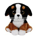 Made in China TY branded furry big eyed Police dog china factory plush toys