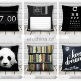 2015 new fashion high quality 3d print books black white fullprint decorative pillow cover
