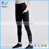 Womens leggings high rise ankle high waist band flat pockets and three horizontal mesh high quality of strength leggings