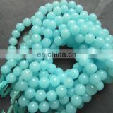 Chalcedony aqua round beads/Chalcedony Gemstone Beads Necklace/Natural gemstone beads suppliers/Semi Precious Gemstone Beads