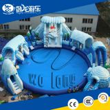 China factory supply giant commercial large Inflatable water slide with pool
