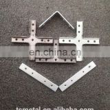 Custom steel shelf bracket l shaped metal bracket