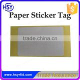 High quality Glass Interface UHF Alien9662 Card Chip RFID Paper Sticker Tag for Access Control System