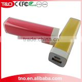 Mini lipstick ROHS power bank 2600mAh Consumer electronics                                                                         Quality Choice