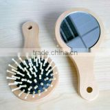 2015 New Wooden Ball Hair Brush For Hair ,Double Sided Hair Brush