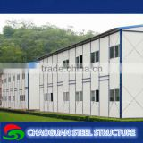 Well design modern light steel structure sandwich panel low cost two storeys prefab house