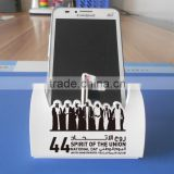 white color soft pvc mobile phone holder stand silicone cell phone stand for uae national day wholesale