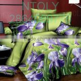 100% polyester duvet covers 125gsm disperse print bedding set/bedsheet/pillow case/trade assurance