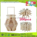 Hot Sale Child Wooden Building Blocks Educational Natural Big Blocks                                                                         Quality Choice