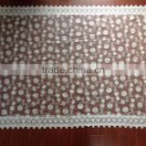 French romance milk white daisy lace watersoluble tablecloth for wedding